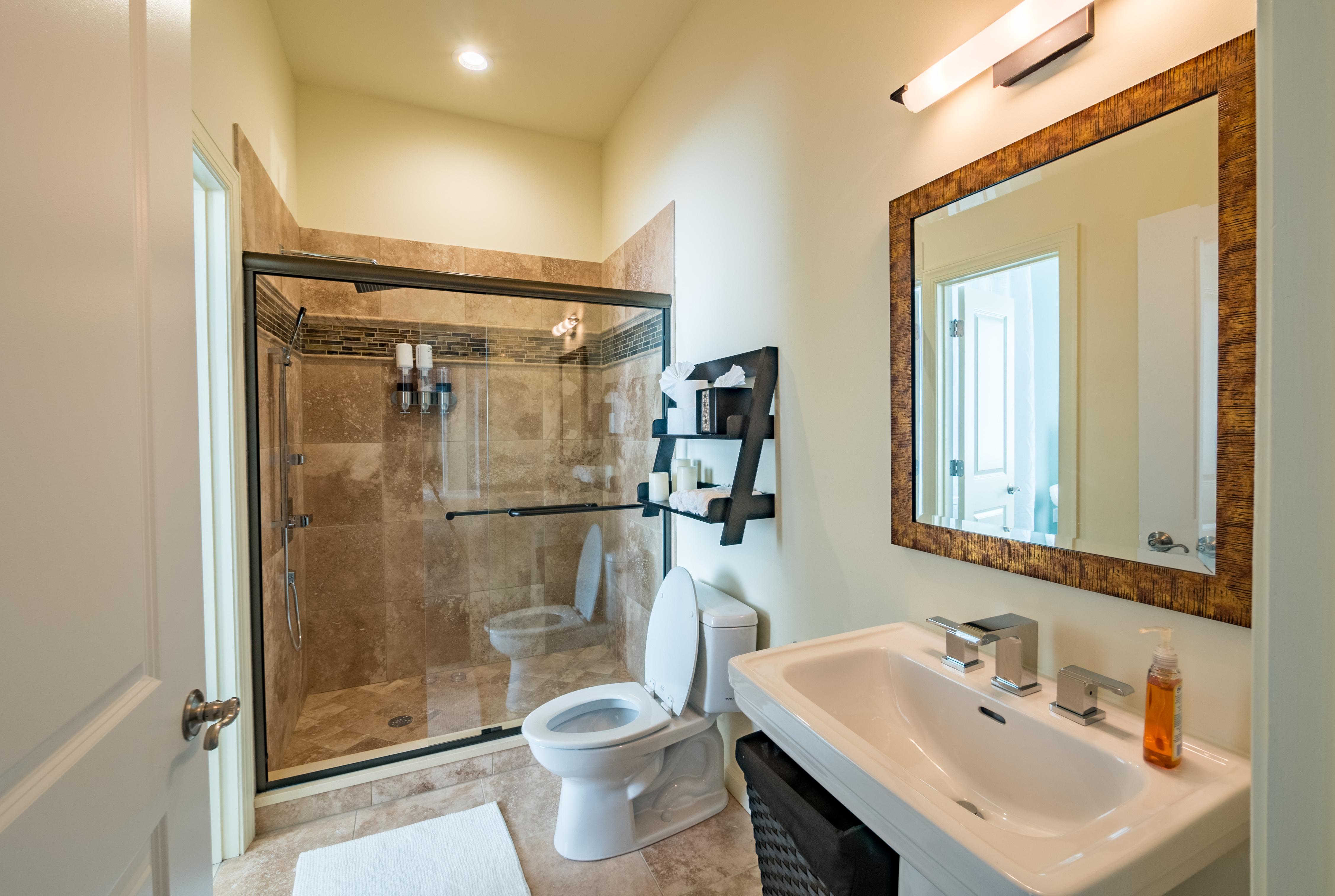 En Suite Bathroom For Scrubs And Wraps